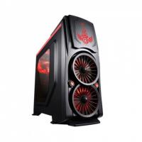 CIRCLE PHOENIX (ATX) Mid Tower Cabinet - With Transparent Side Panel (Red-Black)