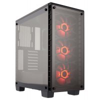 CORSAIR MID TOWER CABINET (ATX) - 460X RGB WITH TEMPERED GLASS SIDE PANEL