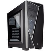 CORSAIR MID TOWER CABINET (ATX) - SPEC 4 BLACK/GREY WITH TRANSPARENT SIDE PANEL