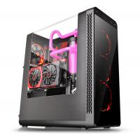 THERMALTAKE MID TOWER CABINET (ATX) - VIEW 27 WITH TRANSPARENT SIDE PANEL (BLACK)
