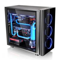 THERMALTAKE MID TOWER CABINET (ATX) - VIEW 31 WITH TEMPERED GLASS SIDE PANEL (BLACK)