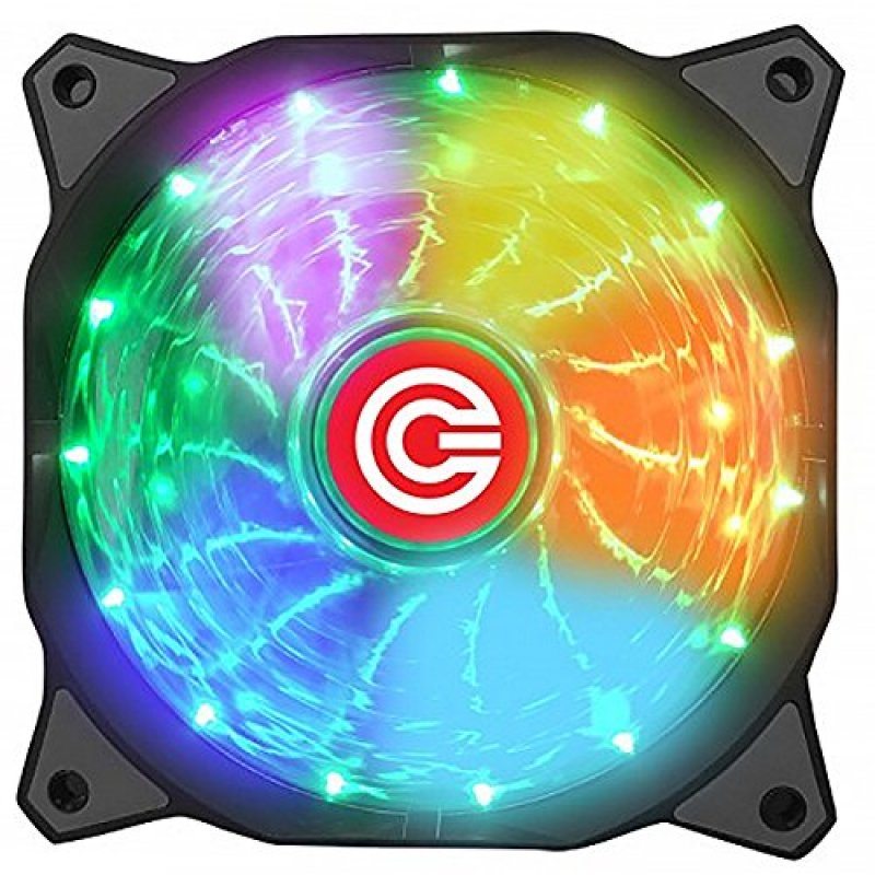 Buy Circle 120 Mm Fan With 7 Led Colour Best Price In