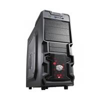 COOLER MASTER K380 (ATX) Mid Tower Cabinet - With Transparent Side Panel (Black)