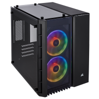 CORSAIR 280X RGB (M-ATX) Mini Tower Cabinet - With Tempered Glass Side Panel And RGB Fan Controller (Black)