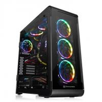 THERMALTAKE VIEW 32 RGB (ATX) Mid Tower Cabinet - With Tempered Glass Side Panel And RGB Fan Controller (Black)