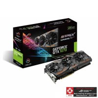 ASUS GRAPHICS CARD PASCAL SERIES - GTX 1070 8GB GDDR5 ROG STRIX GAMING OC EDITION