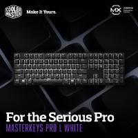 COOLER MASTER MASTERKEYS PRO L Mechanical Gaming Keyboard Cherry Mx Brown Switches - With White Backlight