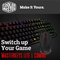 COOLER MASTER MASTERKEYS LITE L Mem-Chanical Gaming Keyboard & Mouse Combo With Rgb Backlight