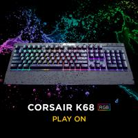 CORSAIR K68 RGB Mechanical Gaming Keyboard, Backlit RGB LED, Cherry MX Red, Dust and Spill Resistant