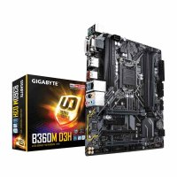 GIGABYTE B360M-D3H Motherboard (Intel Socket 1151/8th Generation Core Series CPU/Max 64GB DDR4-2666MHz Memory)