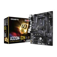 GIGABYTE GA-A320M-S2H Motherboard (AMD Socket AM4/Ryzen Series CPU/Max 32GB DDR4-3200MHz Memory)