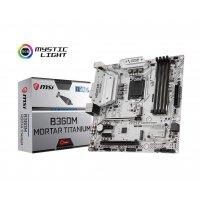 MSI B360M MORTAR TITANIUM Motherboard (Intel Socket 1151/8th Generation Core Series CPU/Max 64GB DDR4-2666Mhz Memory)