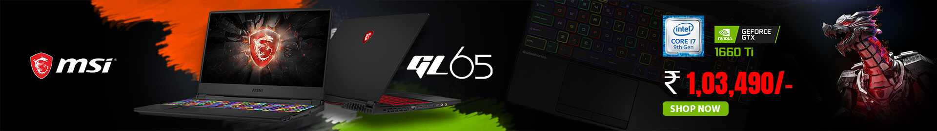 Buy Msi GL65 at Lowest Price In India - mdcomputers.in
