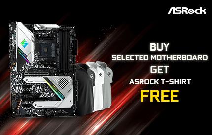 Buy Selected Asrock Motherboards Get Asrock T-Shirt Free
