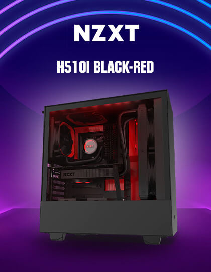 Nzxt H510i (Black-Red) at Best Price in India
