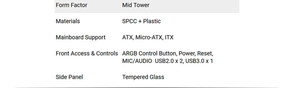 Antec NX310 ARGB 20