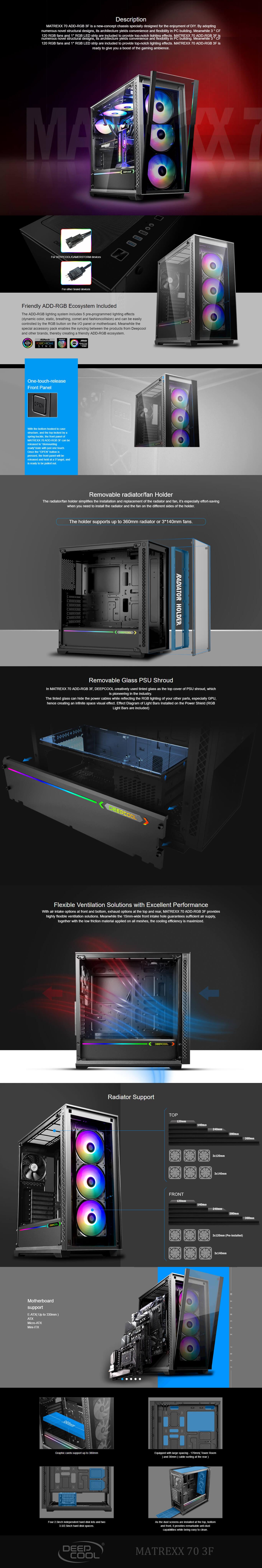 Deepcool Matrexx 70 Addressable RGB (Black) 8