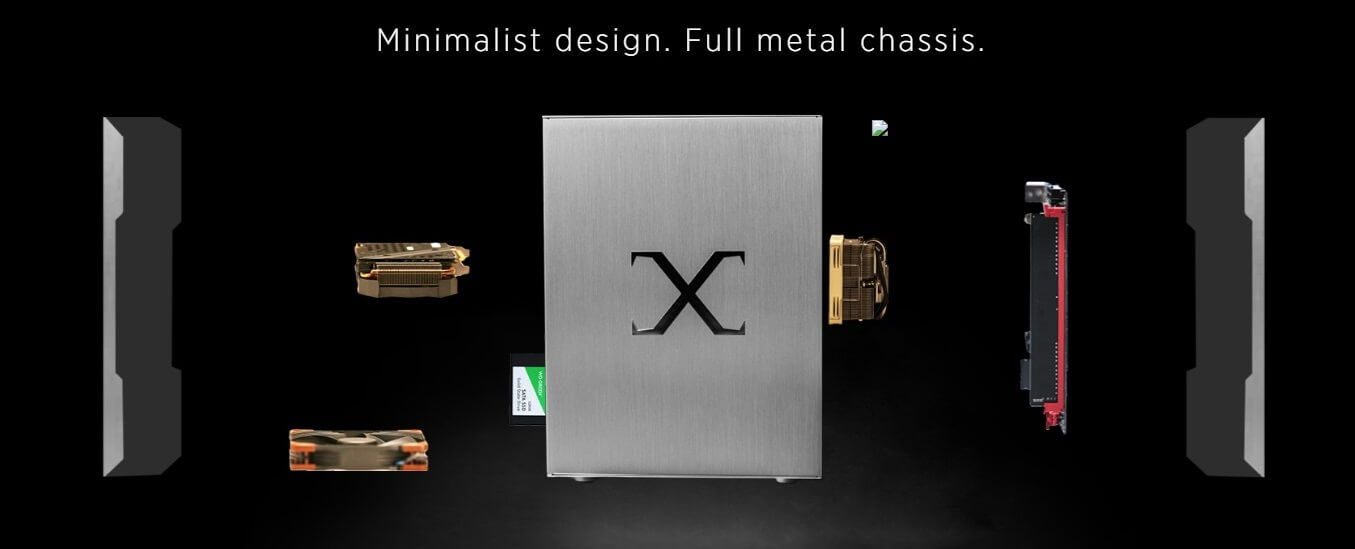 Minimalist design. Full metal chassis.