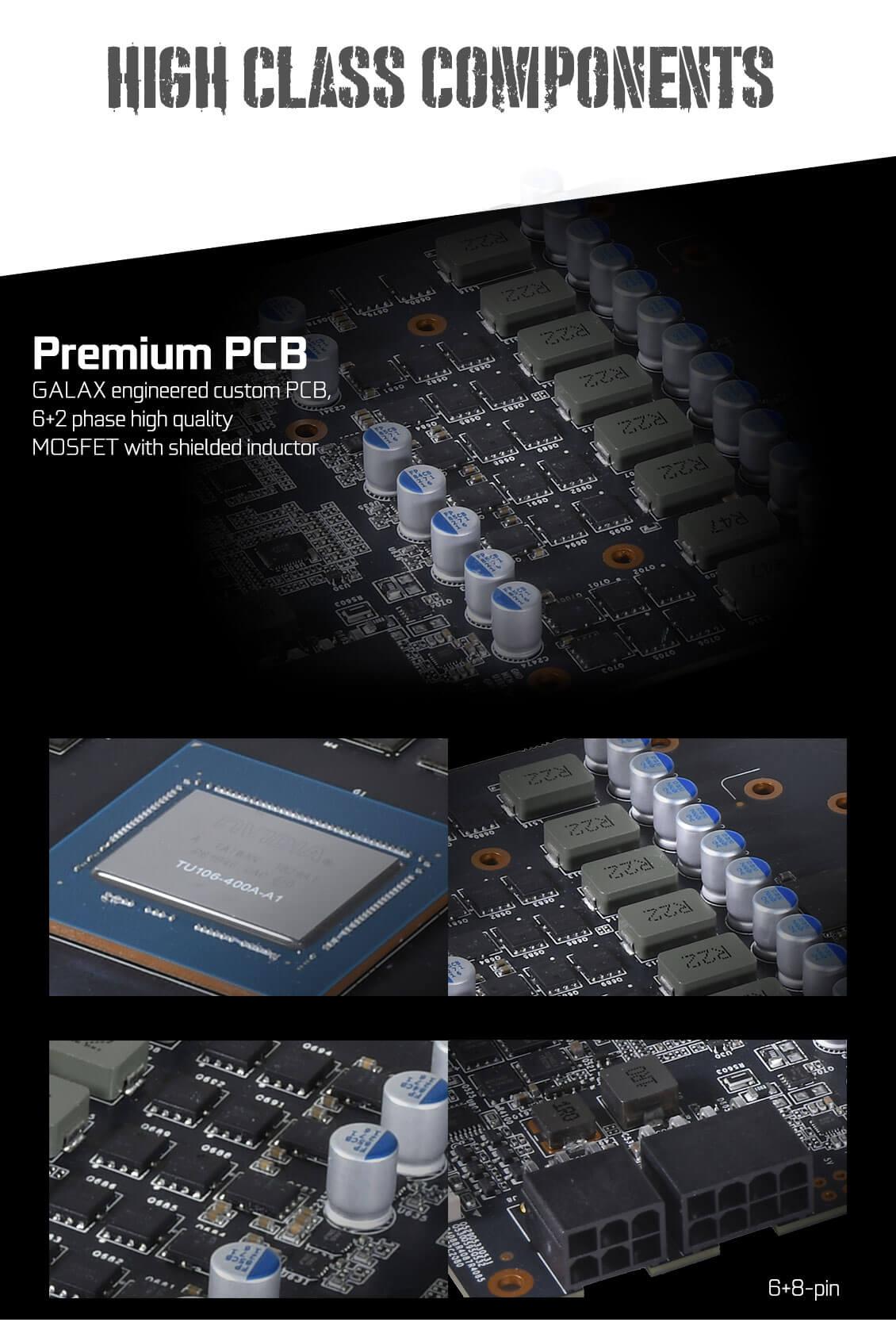 Galax RTX 2070 EX OC 8GB Graphics Card 10