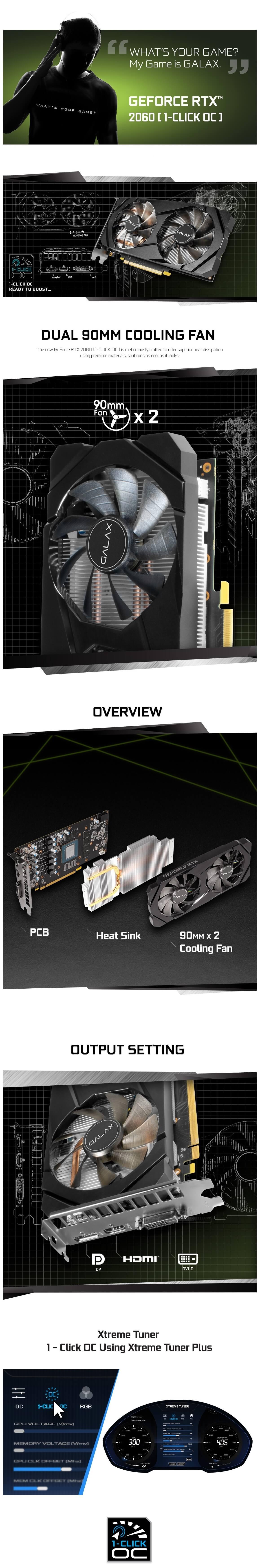 Galax RTX 2060 (1 Click OC) 6GB 7