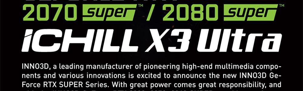 Inno3d RTX 2080 Super Ichill X3 Ultra RGB 8GB 4