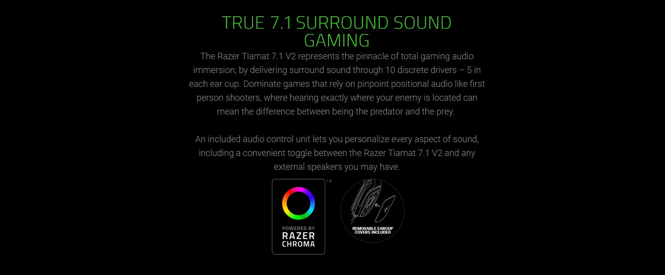 TRUE 7.1 SURROUND SOUND GAMING
