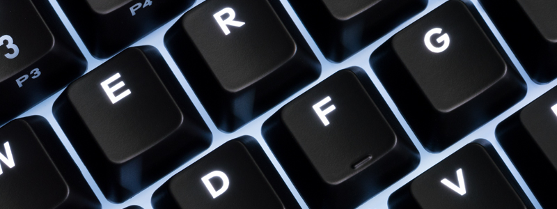 zoom in on A and S key showing the backlight