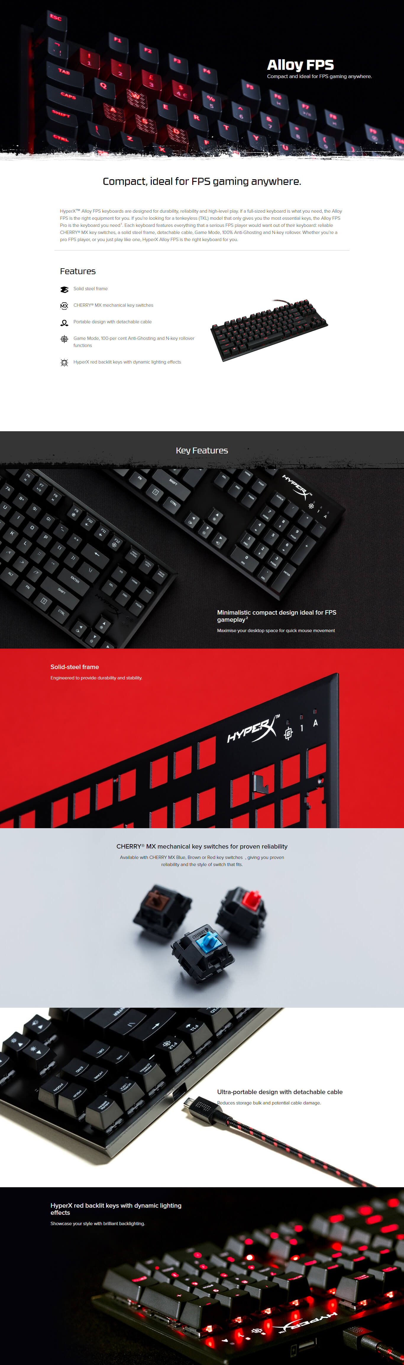 Buy Hyperx Alloy Fps Cherry Mx Red Hx Kb1rd1 Na A3 At Lowest Price Logitech G512 Rgb Mechanical Gaming Keyboard Gx Blue Write A Review