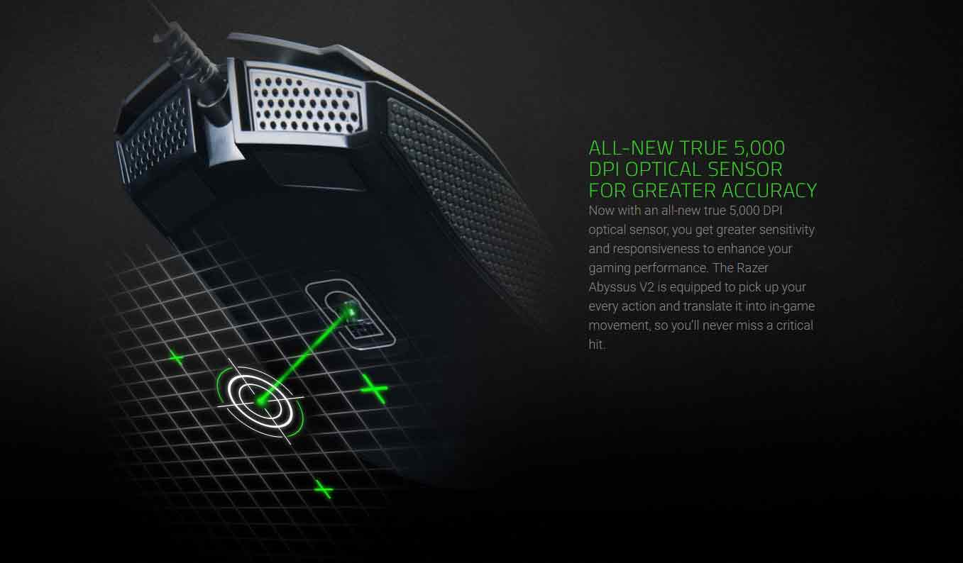 ALL-NEW TRUE 5,000 DPI OPTICAL SENSOR FOR GREATER ACCURACY