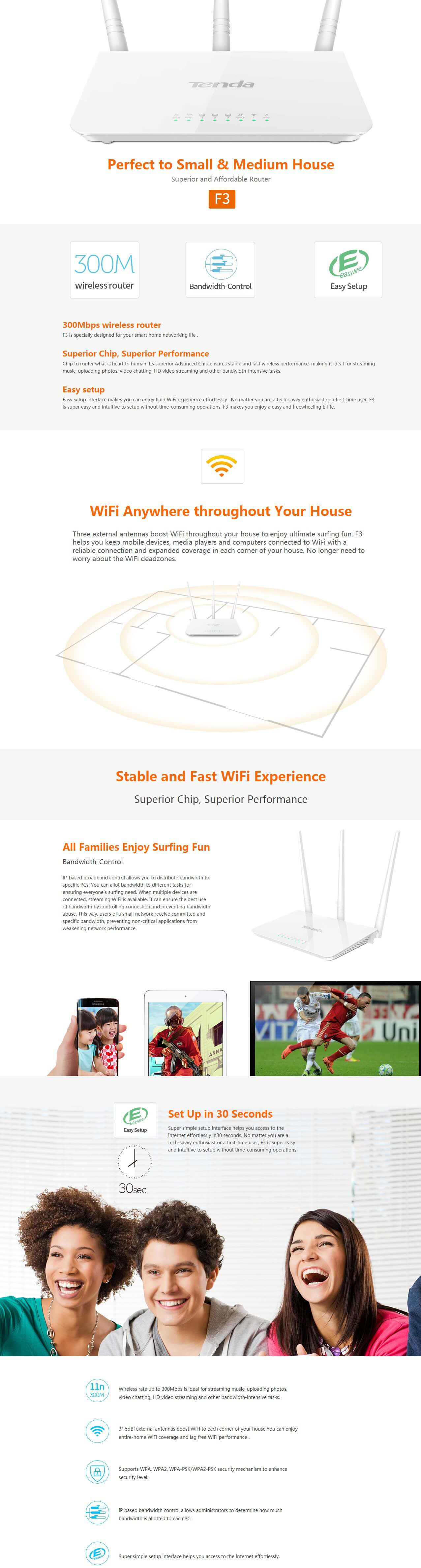 Buy Tenda F3 Wireless At Best Price In India 300mbps Easy Setup Router Tech Specs