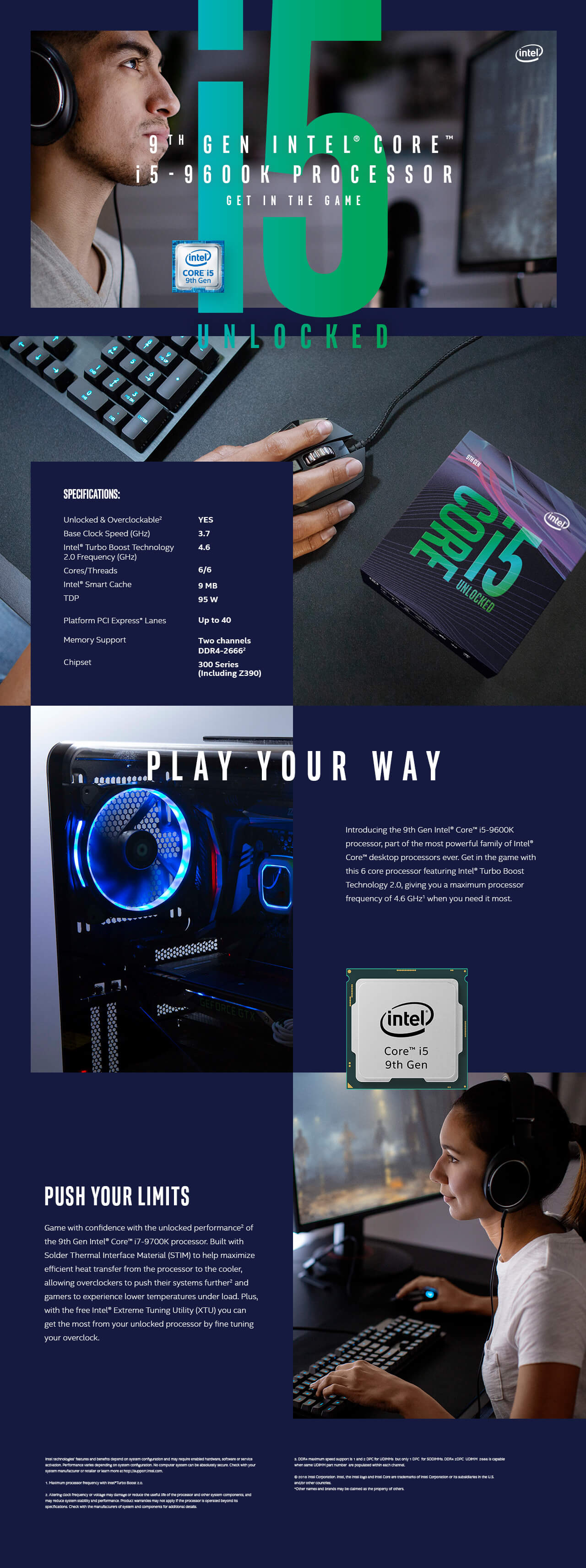 Intel® Core™ I5-9600K Desktop Processor
