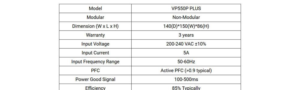 Antec VP550P Plus 18