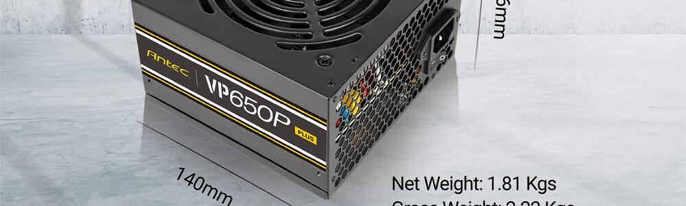 Antec VP650 P Plus 650 Watt 80 Plus Power Supply with 85% Efficiency